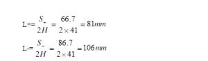 极片长度计算公式