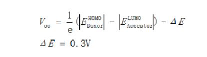 HOMO能和受体的LUMO能之间的能级差公式