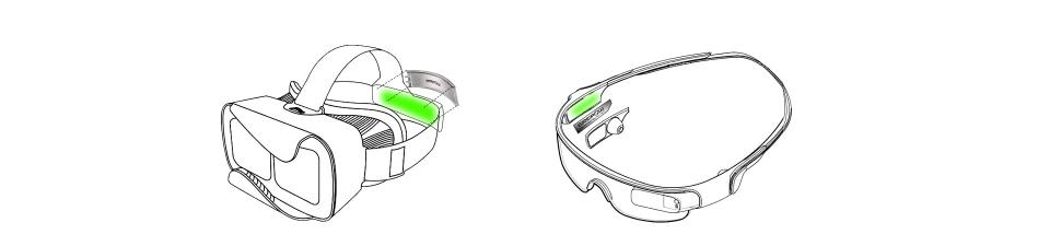 格瑞普智能VR/AR产品电池装载示意图