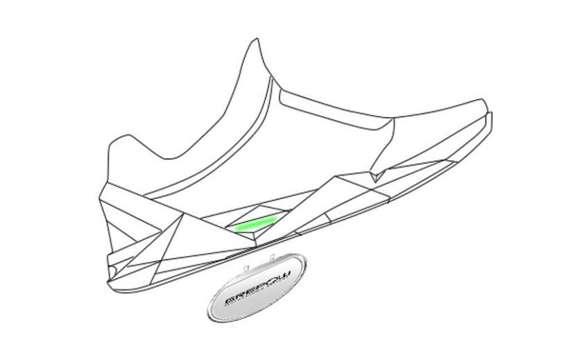 格瑞普智能鞋电池装载示意图