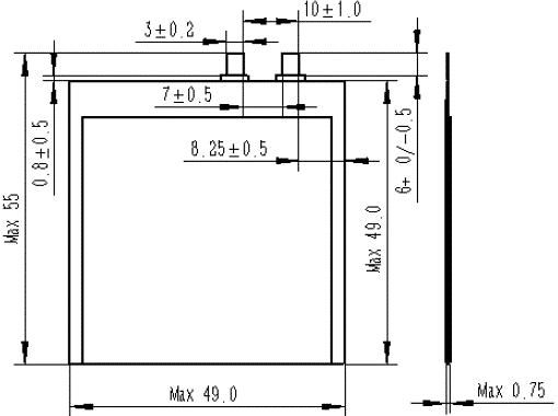 格瑞普超薄异形电池预览图
