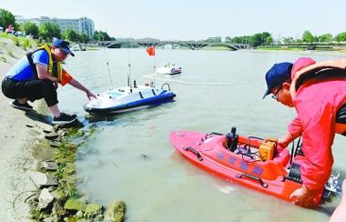 水纹监测电动船