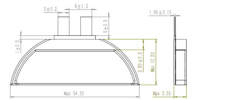 D Shape Battery GRP3334012