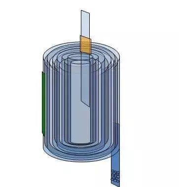 圆柱电池卷绕结构